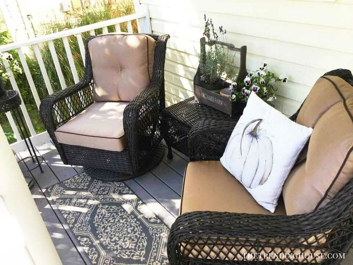 Cozy and Classic Wicker Rockers