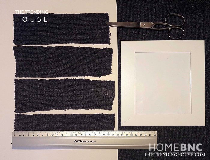 Create Equal-sized Rectangles from the Knitted Material