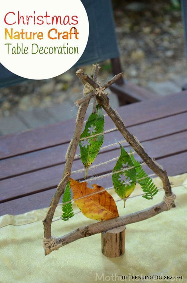 Create Table Décor with Sticks and Twigs