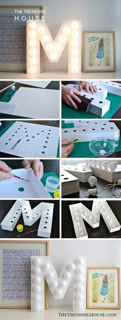 Create Your Own Marquee DIY Letter Project
