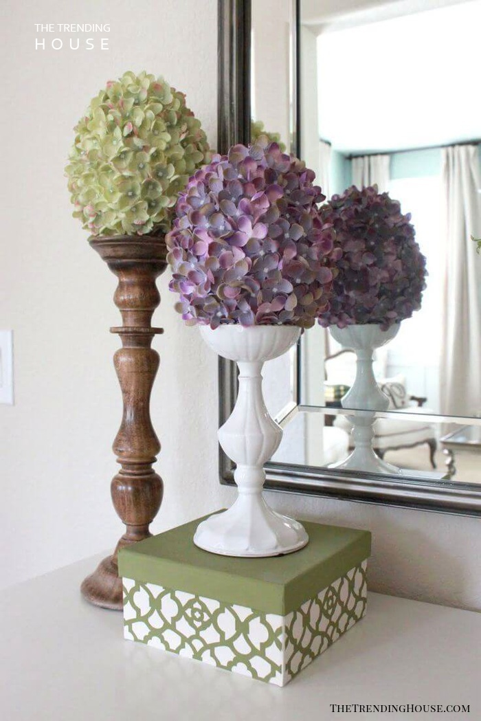Create a Floral Display with Vintage Candlesticks