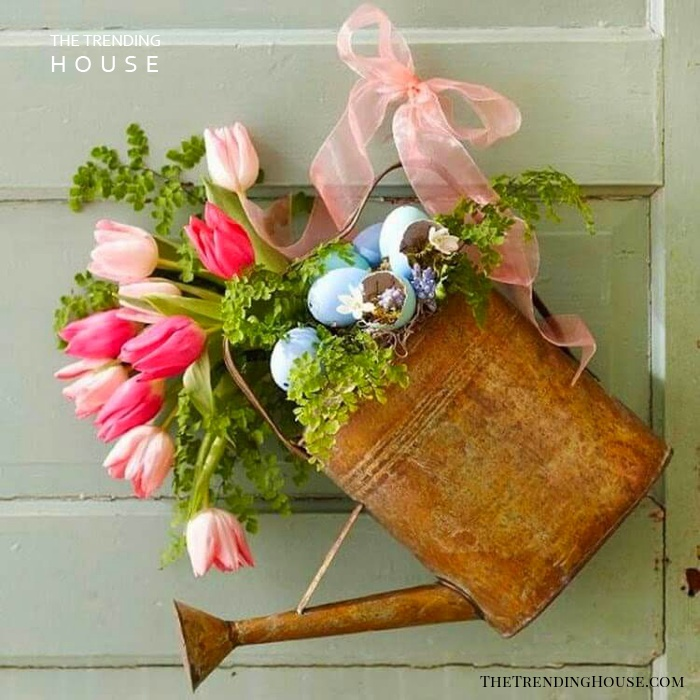Create a Watering Can Spring Decoration