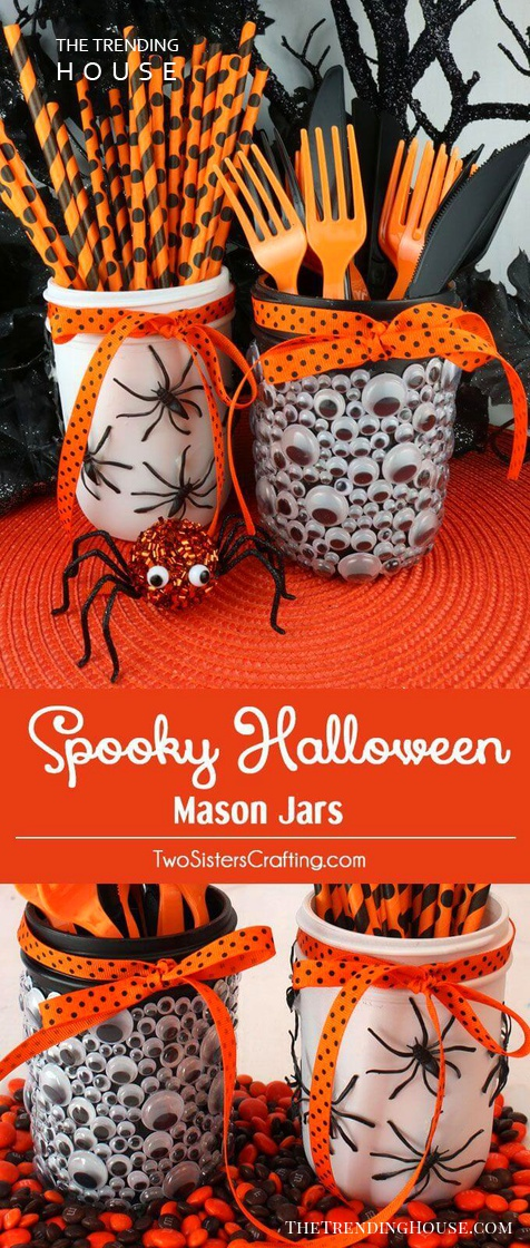 Creepy Mason Jar Halloween Crafts Party Decor