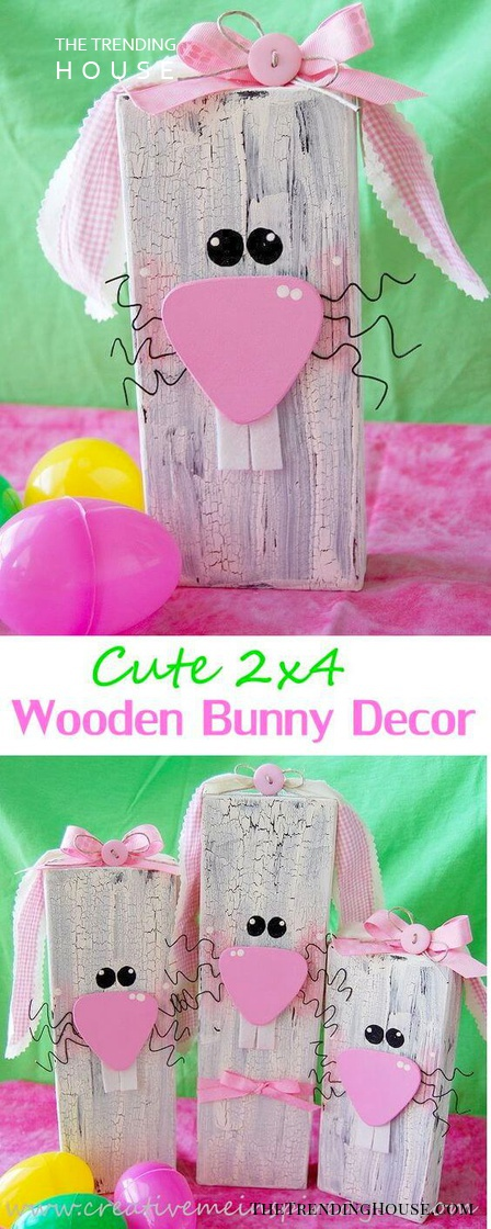 Cute 2×4 Wooden Easter Bunny