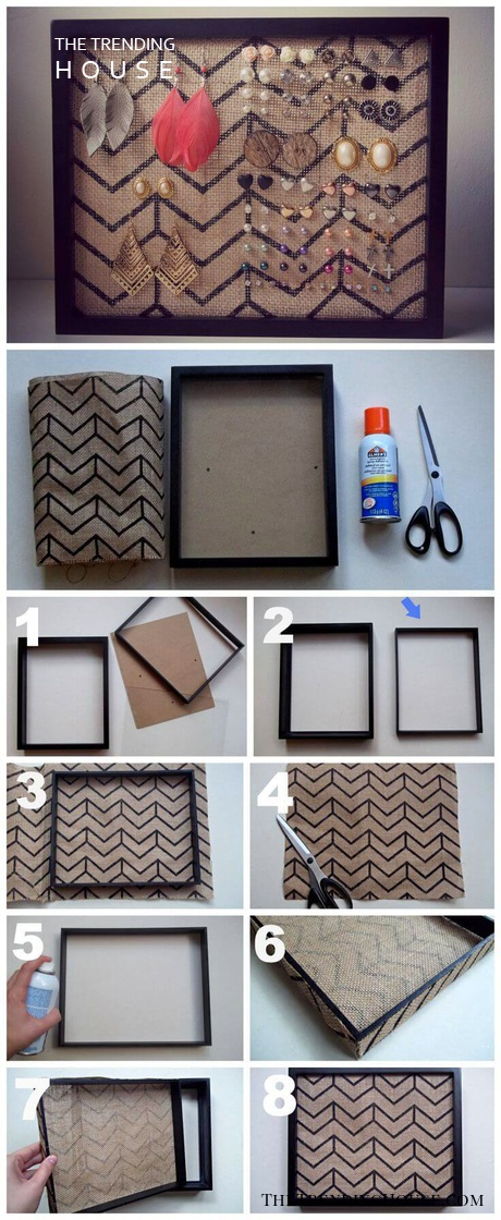 DIY Chevron Earring Board