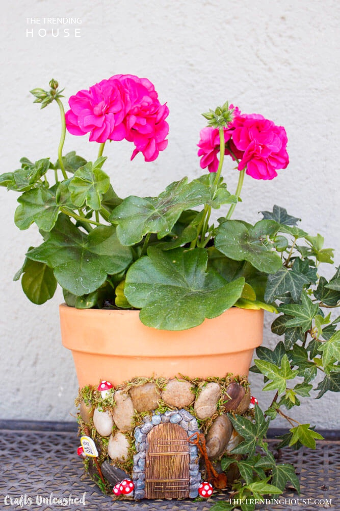 DIY Fairy Door Planter Project