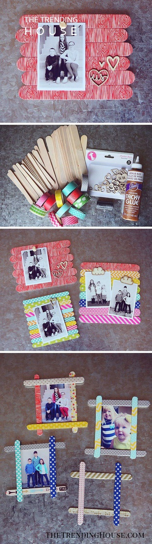 DIY Funky Frames With Popsicle Sticks