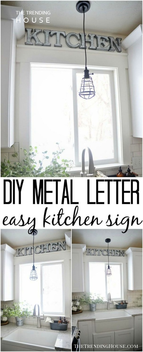 DIY Metal Letter Kitchen Sign