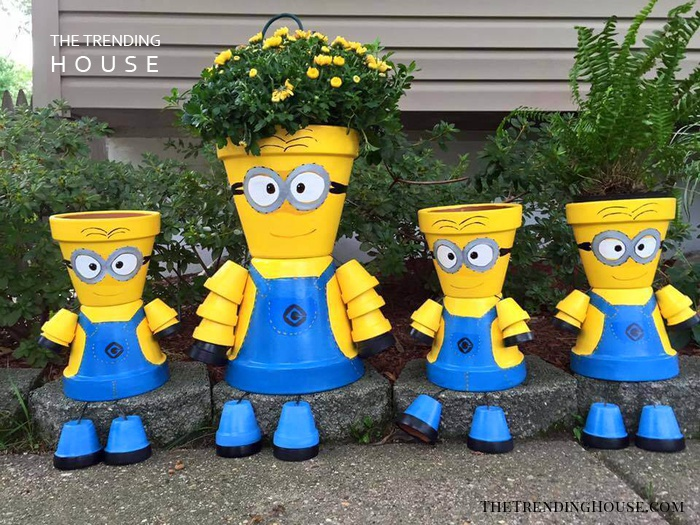 DIY Minion Flower Pot Decorations