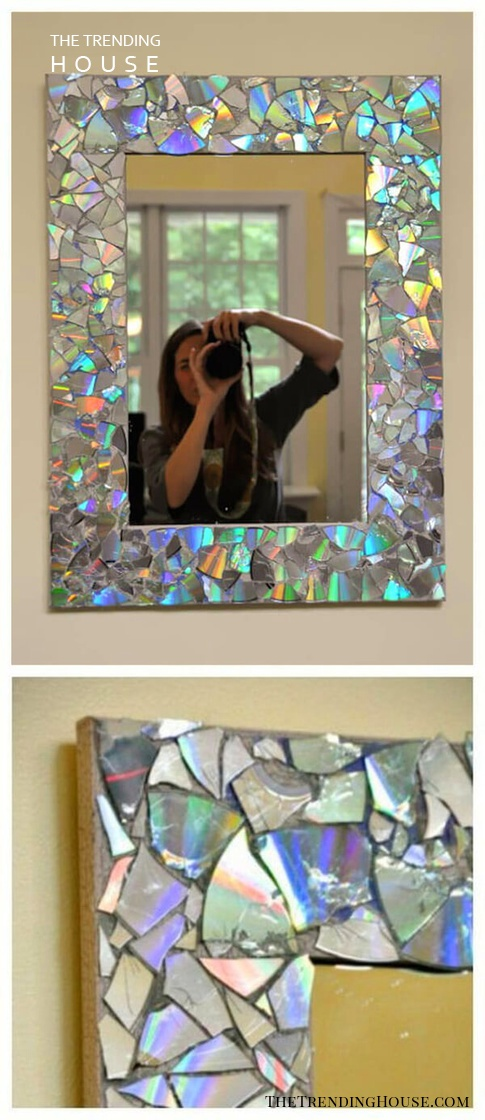 DIY Mosaic Mirror with Abalone