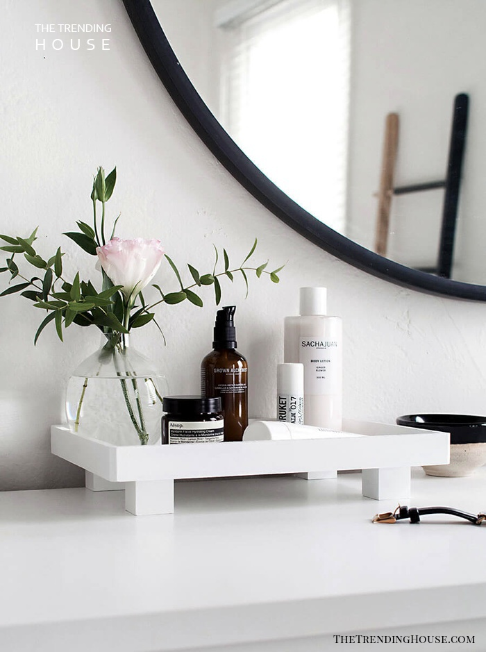 DIY Sink Top Toiletry Tray