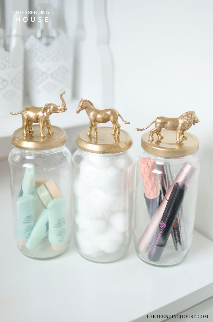 DIY Spray Paint Makeovers for Your Makeup Jars