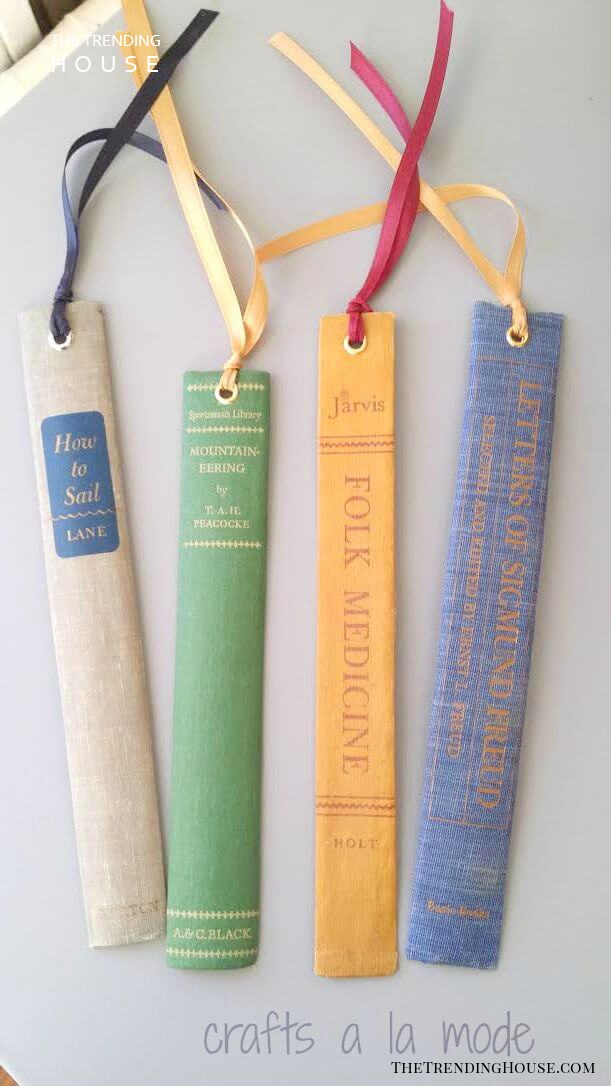 DIY Vintage Book Spine Bookmarks