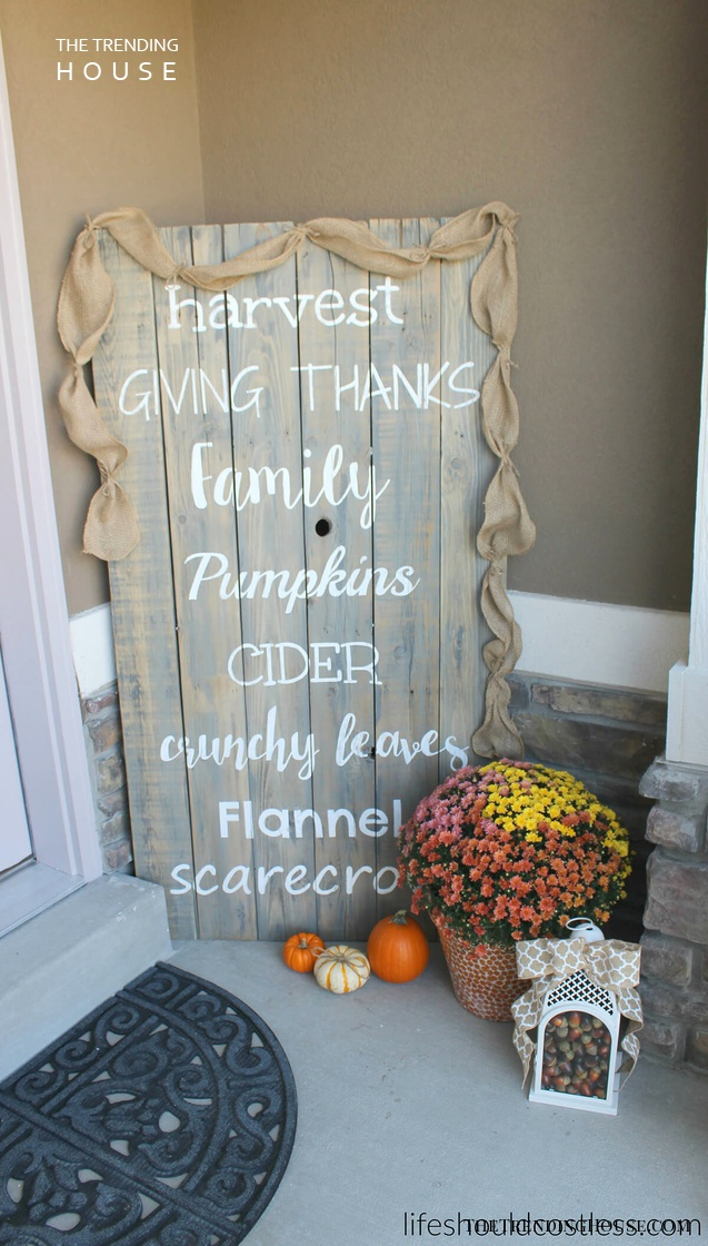 DIY Wooden Harvest Time Sign