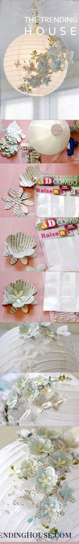 Dainty DIY Old Book Page Flowers