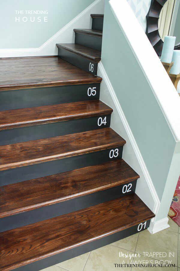 Dark Wood And Paint Against White Bannister