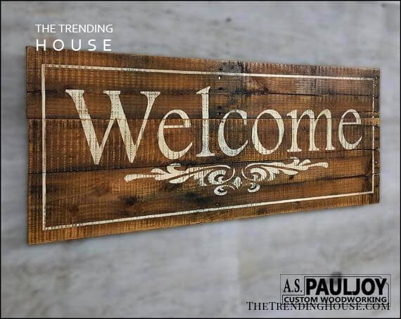 Dark and Weathered Wooden Sign