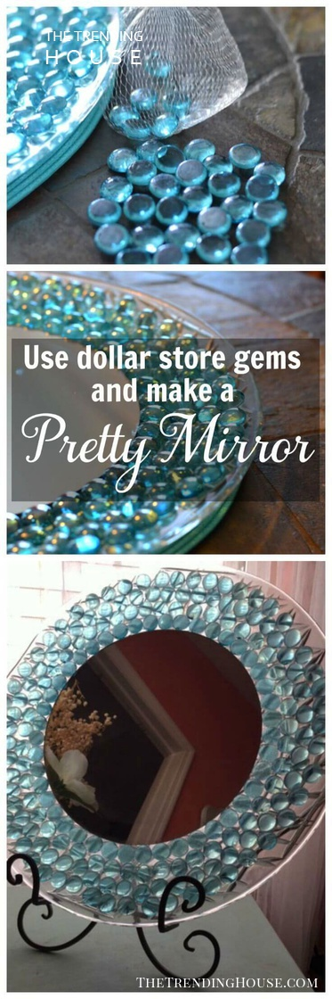 Decorated Gemstone Mirror