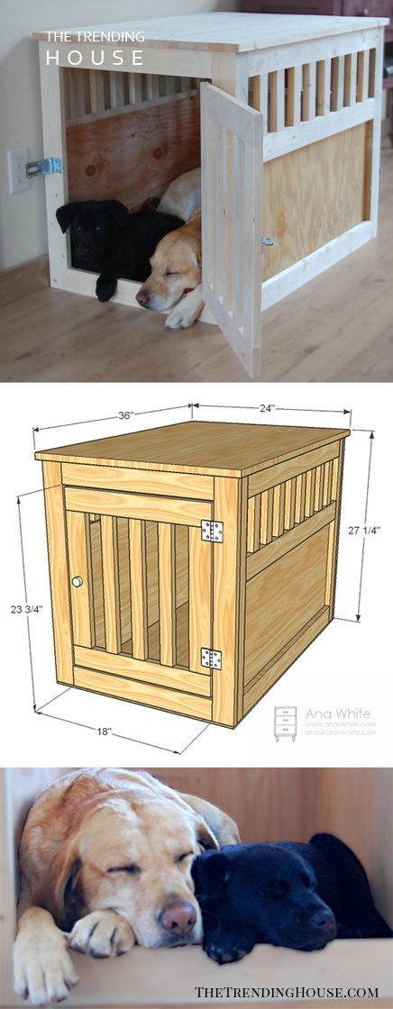 Deluxe Wooden Dog Crate