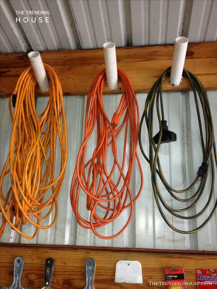 Easy PVC Pipe Cord Collectors