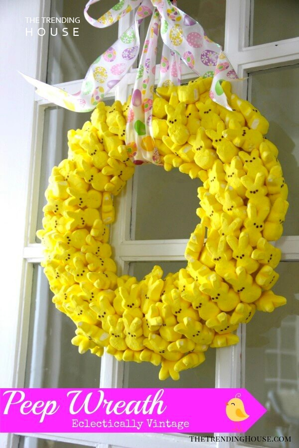 Easy Peeps Bunny Easter Wreath Décor