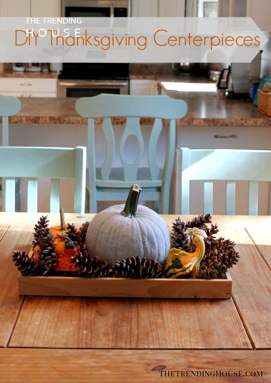 Easy Pinecone and Mini-pumpkin Arrangement