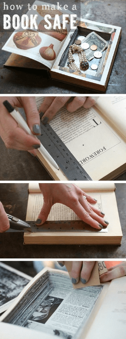 Easy to Make Vintage Book Safe