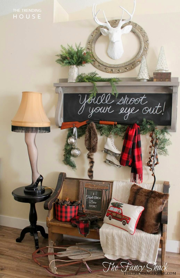 Eclectic Farmhouse Style Entryway with Chalkboard