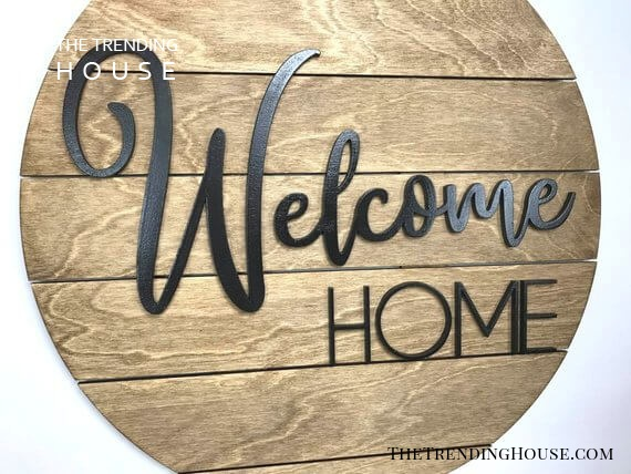 Elegant and Chic Welcome Home Sign