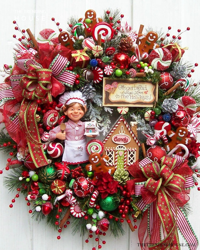Explosion of Christmas Goodies Wreath