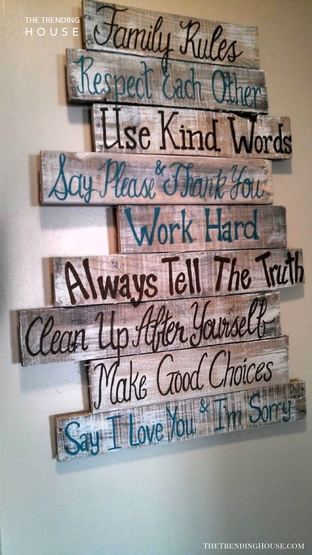 Family Rules to Remember and Follow