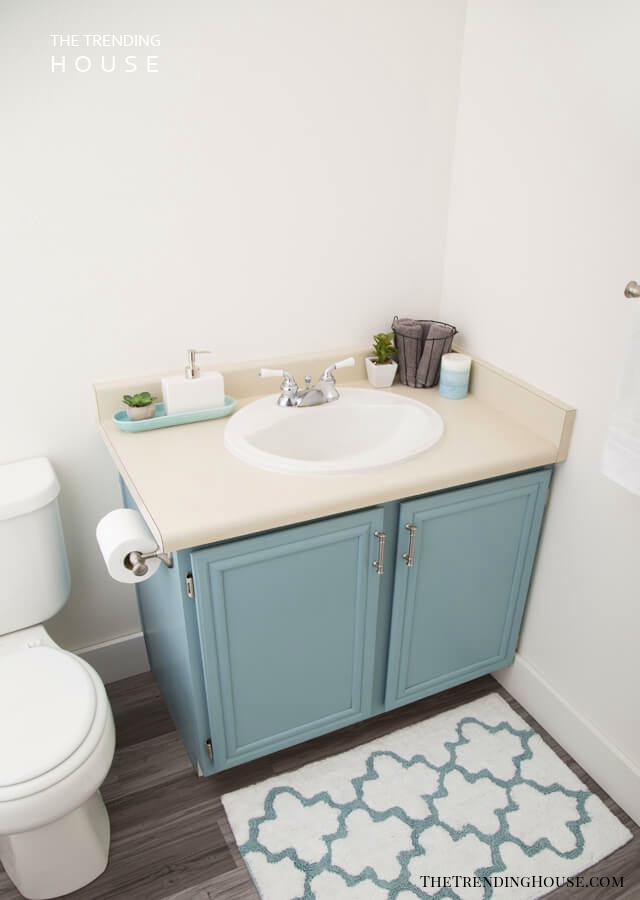 Farm House Blue Bathroom Cabinets