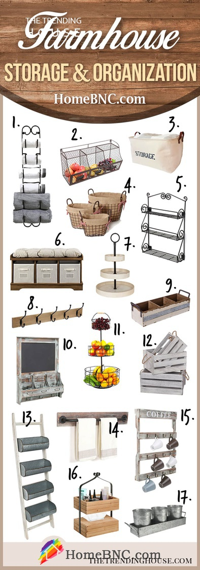 Our Favorite Farmhouse Storage Items to buy on Amazon