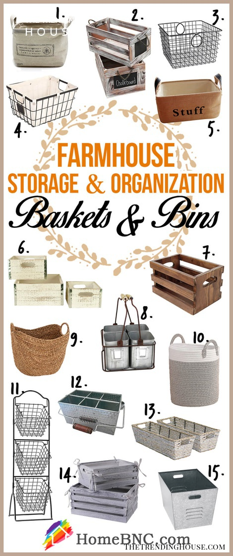 Our Favorite Farmhouse Baskets and Bins to buy on Amazon