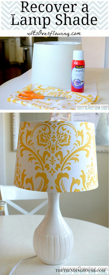 Favorite Fabric-Covered Lampshade