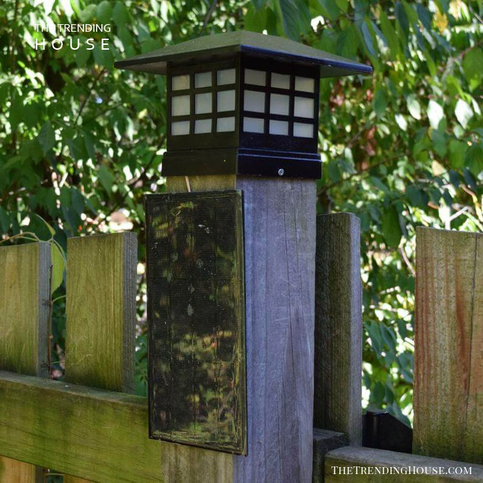Fence Post Bright White Solar Light