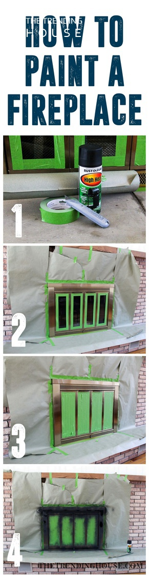 Fireplace Flare with DIY Spray Paint Makeovers