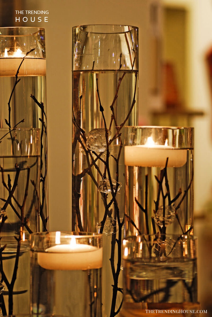 Floating By Candlelight Table Display
