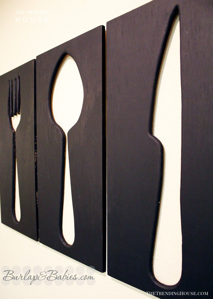 Fork, Spoon, and Knife Negative Space Art
