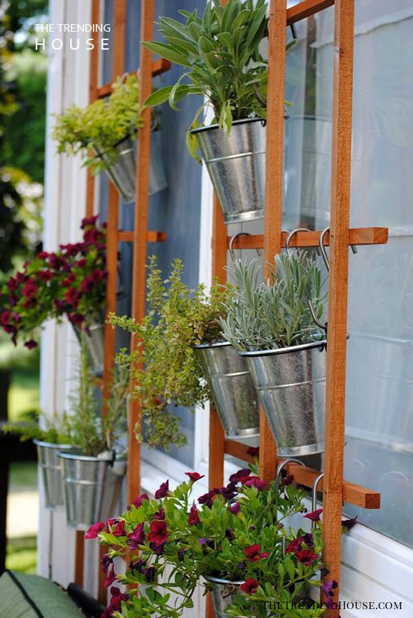 Galvanized Bucket Hanging Planter Project