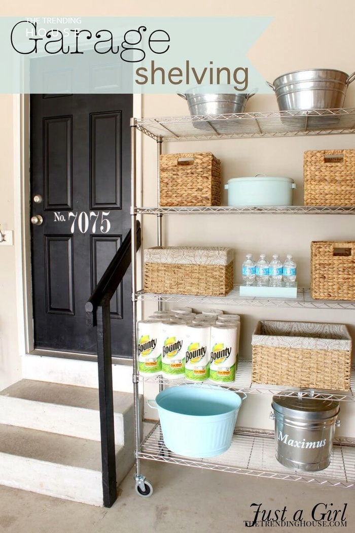 Garage Shelving Can Be Pretty Too