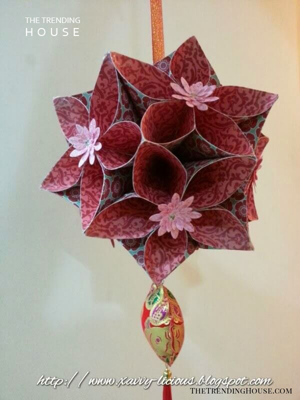 Geometrical and Sophisticated Flower Ball Arrangement