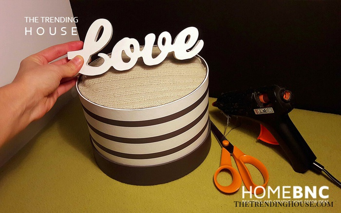 Glue the 'Love' Plate on the Base