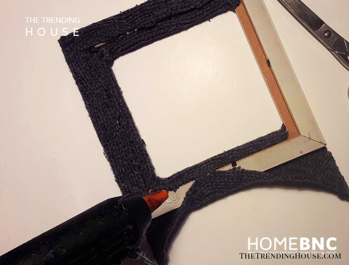 Glue the Material to the Frame