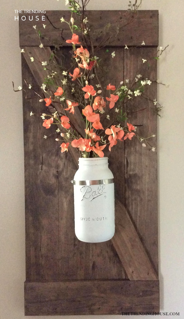 Gorgeous Painted Mason Jar Flower Decor