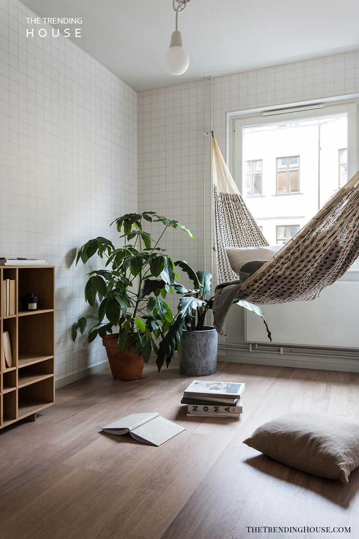 Hammock with Potted Plants