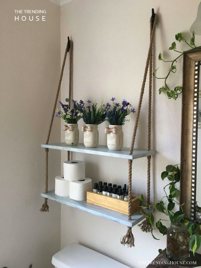 Hand Crafted Hanging Shelves