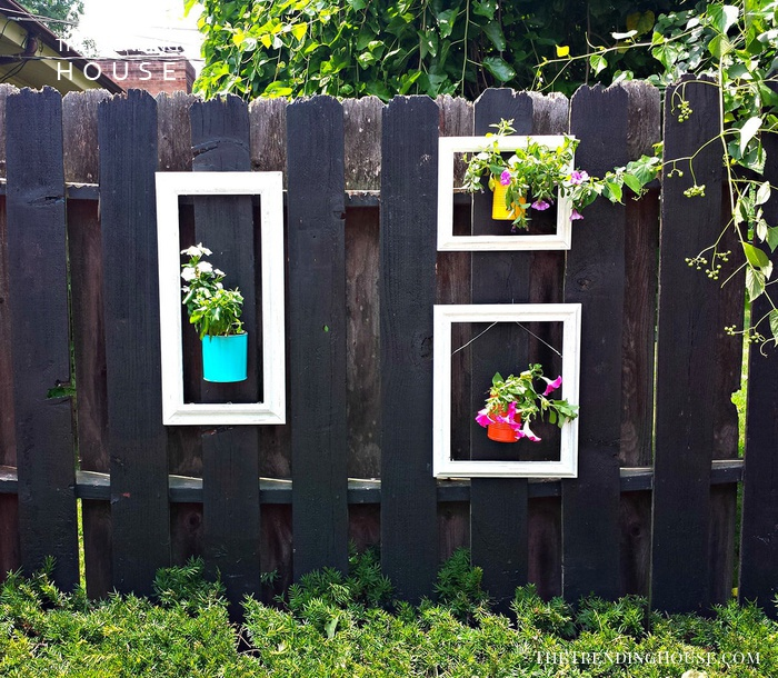 Hang Flowers in Upcycled Wooden Frames