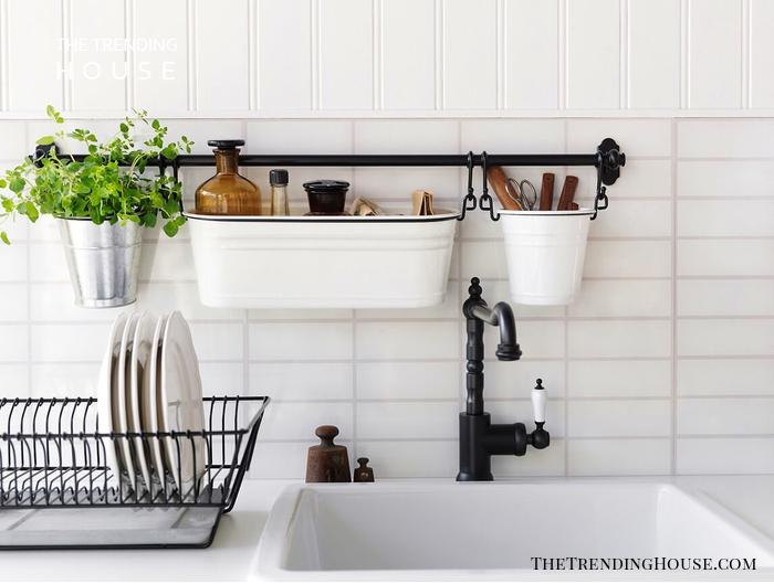 Hanging Bucket Kitchen Sink Organizer