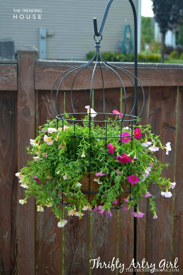 Hanging Wire Flower Pot Cage